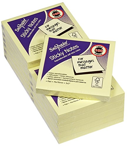 snopake-76x76mm-sticky-notes-yellow-pack-of-12-100-sheets-per-pad