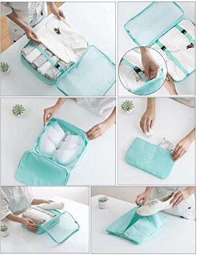 Joyoldelf 8 stück Kleidertaschen, verbesserte Koffer Gepäck Aufbewahrung Taschen Organiser für trockene Kleidung, Schuhe, Unterwäsche, Kosmetik, Bücher, Süßigkeiten und andere Zubehör