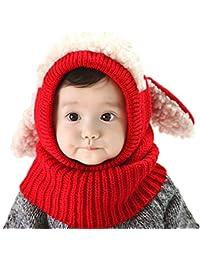 SHBUY Chapeau d hiver bébé,Unisexe Chapeau De Bain d hiver Bonnet Tricoté Chapeau  pour Bébé Fille Garçon(2-6… a695772ca04