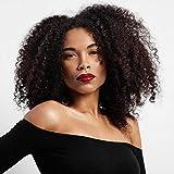 Cheveux bouclés Perruques pour femme noire,bouclés perruque, crépus frisés Afro Perruques Cheveux humains Dentelle Fluffy complète synthétique Perruques avec frange Marron(Wl9302)