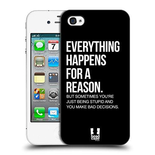 Head Case Designs For A Reason Freche Sprüche Ruckseite Hülle für Apple iPhone 4 / 4S Iphone 4s 8gb