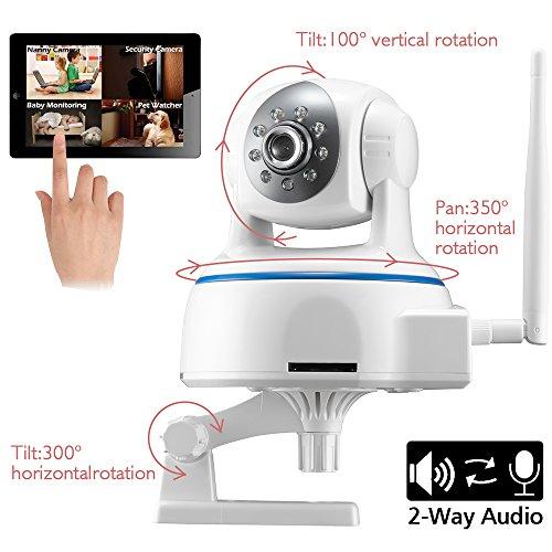 Minidiva Indoor 1080P 2 Megapixel drahtlose WIFI IP-Überwachungskamera – 350 Grad (horizontal) - 4