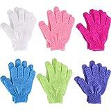 6 Paar doppelseitige Peeling Handschuhe Body Scrubbing Handschuh Bad schrubbt