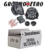 Skoda Octavia 1 1U Heck - Ground Zero GZIC 13X Kompo - 13cm Lautsprecher System - Einbauset