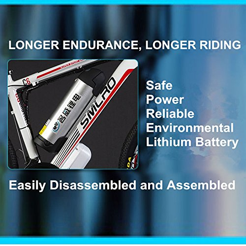"51fluR%2BX2UL. SS500  - 26"" 48V Lithium Battery Aluminum Alloy Electric Assisted Bicycle, 27 Speed Electric Bike, MTB/Mountain Bike,adopt Oil Disc Brakes,Pedelec."