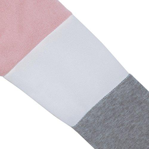West See Damen Rundhals Hoodie Lässige Druck Mantel Tops Pullover Langarm Sweatshirt (DE 40(Herstellergrößer XXL), Pink) - 4
