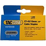 Tacwise Agrafes de câble Blanc 0353 Ct-45/10 mm
