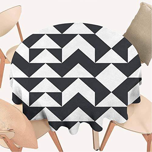 Petpany Gras-Tischdecke, rund, 70 cm, dekoratives Muster, ideal für Buffet-Tisch, Partys, Urlaubsessen und mehr