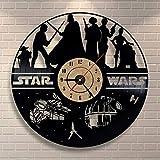 Star Wars wanduhr,Vinyl Record wanduhr,Wohnzimmer Uhr,Moderne Retro Wanduhr,Für Wohnzimmer Hotel Partei-L 30cm(12inch)