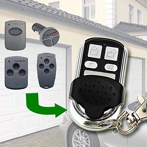 Mando a distancia para llave de clonación - 868 MHz Clonador para puerta de garaje eléctrico persiana de rodillo - Repuesto de llavero Duplicador remoto Hormann HSM2, HSM4 Tamaño libre negro
