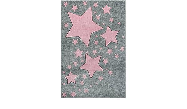 Livone Pflegeleichter Kinderteppich Baby Teppich Kinderzimmer Sterne