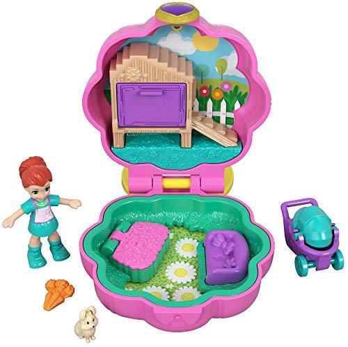 Polly Pocket Mini cofre cochecito de paseo, muñeca con...