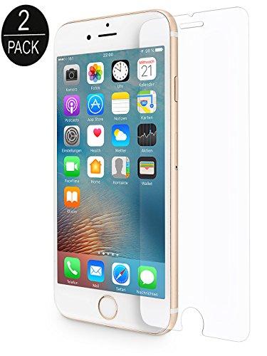 WIIUKA [2 Stück] Panzerglas -Protect- für Apple iPhone 6S Plus und iPhone 6 Plus, gehärtetes 9H Glas mit schmutzabweisender Oberflächenbeschichtung, Premium Schutzfolie