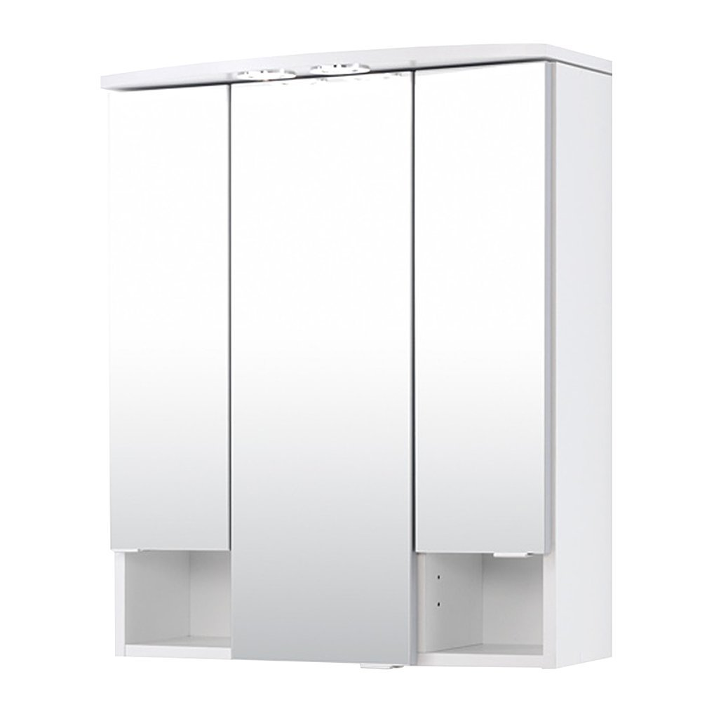 Faszinierend Spiegelschrank 3 Türig Beste Wahl Held Möbel 180.0001 Neapel Spiegelschrank, Türig/4 Glas-einlegeböden/beleuc