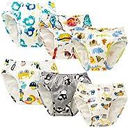 BLOMDES bóxer para niños 100% algodón Ropa Interior Paquete de 6 Calzoncillos para niños de 2 a 12 años
