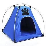 Tienda campaña pequeñas mascotas dormir campo resguardo lluvia camping caravana excursion plegable ligera azul de OPEN BUY