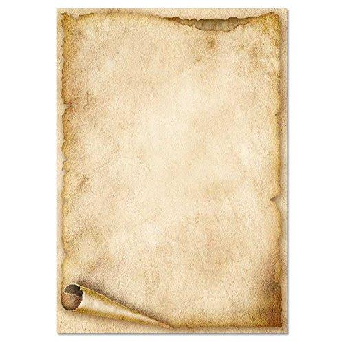 Papier à motif à lettres VIEUX ROULEAU DE PAPIER DIN A6 format 100 feuille de papier