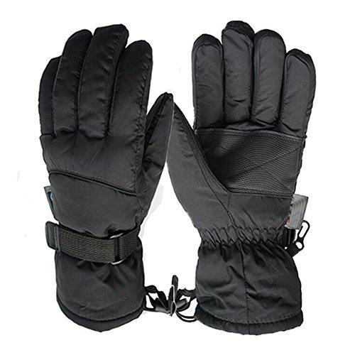 Skihandschuhe,HOHTLY Outdoor Skihandschuhe Winter Wasserdicht Snowboard Fahrrad Skifahren Warm Handschuhe Thinsulate Thermisch Winddicht für Herren Damen