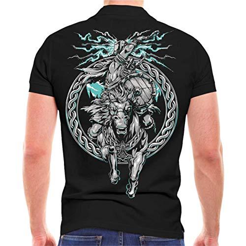 Männer und Herren Polo Shirt See You in Walhalla (mit Rückendruck) Größe S - 10XL