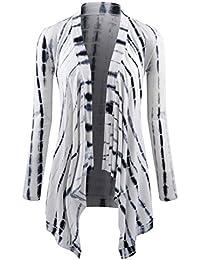NEARKIN Cárdigan de túnica, abierto por el frente, de manga larga, liviano, para mujeres