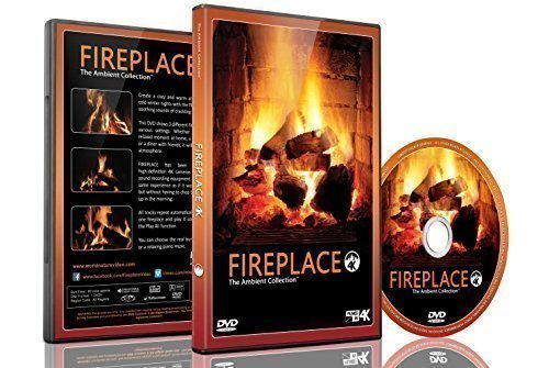 Preisvergleich Produktbild Fire DVD - Fireplace Filmed in HD of Long Wood Fires with Burning Wood Sounds