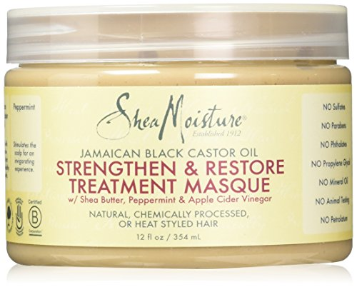 Shea Moisture Jamaican Black Castor Oil Strengthen Grow & Restore Treatment Masque 340g Shea Butter Hair Mask
