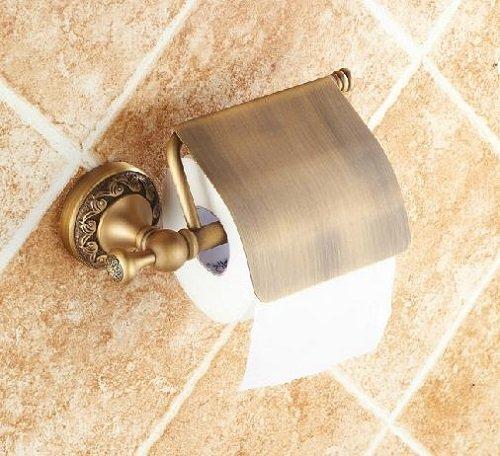 Taccy bagno di carta con copertura in realizzato in ottone lucido con finitura bronzo antico # AS09