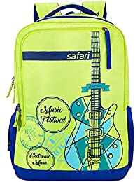 Safari 31 Ltrs Neon Green Casual Backpack (Guitar Reloaded Neon Green)