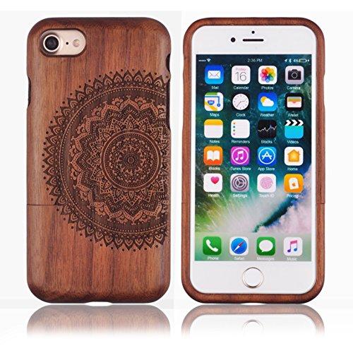 Voguecase® Pour Apple iPhone 7 Plus 5,5, Coque en bambou véritable Rigide Shell Housse Étui Case Cover(totem 01)de Gratuit stylet l'écran aléatoire universelle tapis