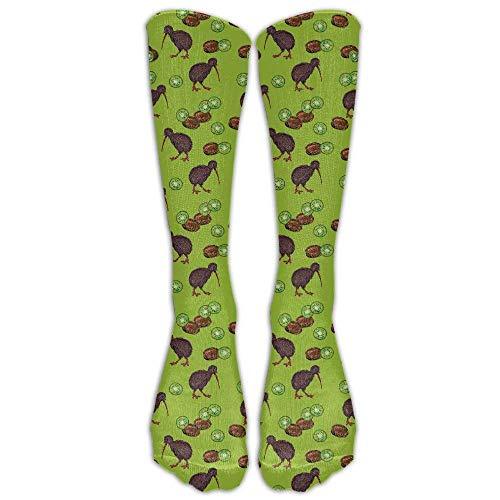Unisex Kiwi Birds And Kiwi Fruits Below Knee Socks Tube Stockings Mid Calf Boot Socks Long Crew Socks