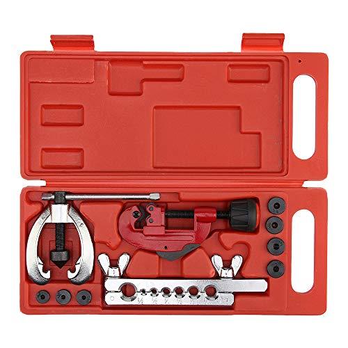 KKmoon Bördelgerät Bördel Werkzeug Set Rohrexpander für Klimaanlage Kühlschrank Kältereparaturwerkzeuge, Expander Rohrreibahle Bördelwerkzeugsatz (3 8 Stahl Bremsleitung)