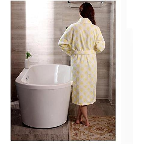 LIUDOUMS algodón pretina albornoz rosa pijama amarillo , 1# , xl