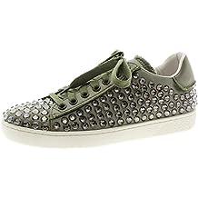 lola cruz Sneakers Kaki Cristales 085Z85