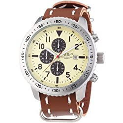 Mike Ellis New York 17986/3 XL Men's Chronograph Quartz Watch with Synthetic Leather Strap