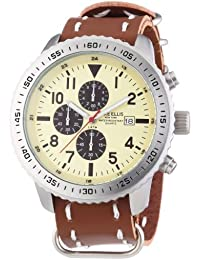 Mike Ellis New York Herren-Armbanduhr XL Chronograph Quarz Kunstleder 17986/3