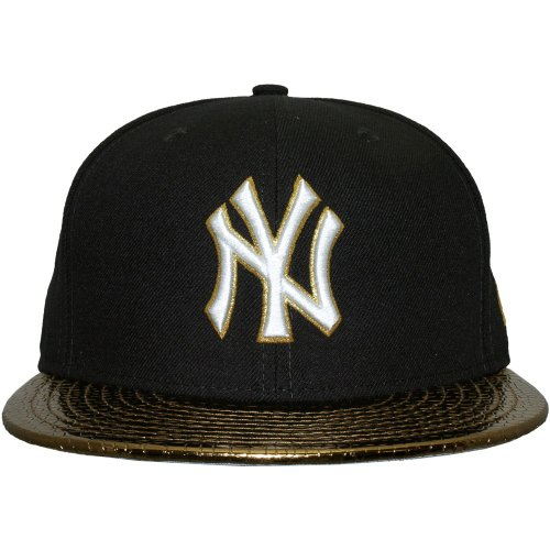 New Era - Casquette Fitted Homme New York Yankees 59Fifty Metallic Slither - Navy/Gold