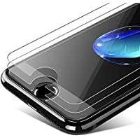 [3-Pièces] Verre Trempé iPhone6/6s/7/8, AHZOE Film Protection iPhone6/6s/7/8 Protection Écrans iPhone6/6s/7/8 Anti Payures sans Bulles D'air Ultra Résistant Dureté 9H Glass pour iPhone6/6s/7/8-Transparent