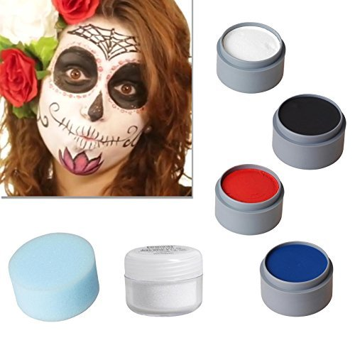 Halloween Schminke Set Sugar Skull Spain schminken ()