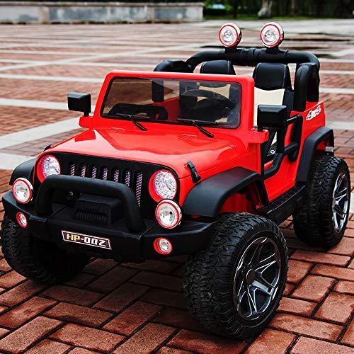 Tritow Große elektrische Kinder Fahrt auf Autos 12 V Batterie Fahrzeuge 45 Watt Doppelsitz Kinder elektrische Auto Federung Fernbedienung Simulation 4-Rad-SUV Spielzeug Übergroße (Color : Red)