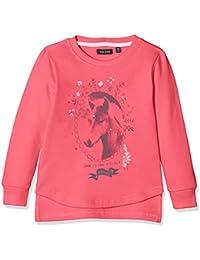 Blue Seven Mädchen Sweatshirt Mit Verlängertem Rückteil Und Pferdemotiv, Sweat-Shirt Fille