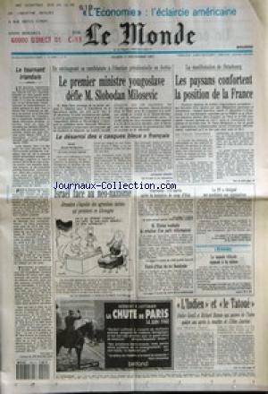 MONDE (LE) [No 14881] du 01/12/1992 - LE TOURNANT ...