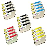 20x Epson Stylus SX 130 kompatible XL Druckerpatronen - 8xSchwarz-4xCyan-4xMagenta-4xGelb - Patrone MIT CHIP !!!