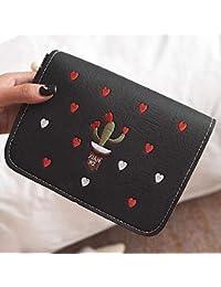 Elegant Embroidered PU Leather Shoulder Bag Crossbody Bag Small Satchel Flap Bag Women Messenger Bag Clutch Handbag...