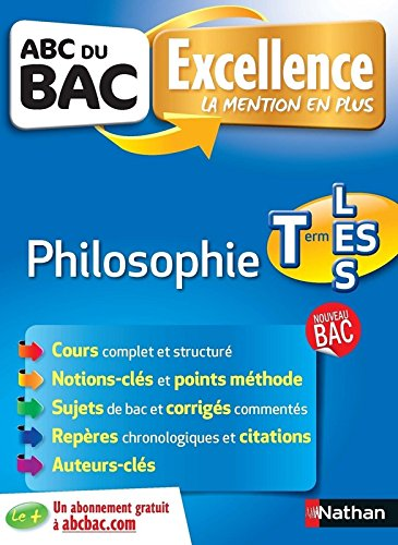 ABC du BAC Excellence Philosophie Term L-ES-S par Denis Vanhoutte