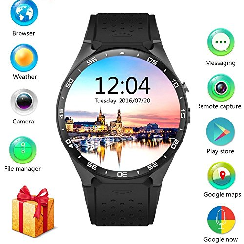 Novateur RY1116 3G Wi-Fi Smart watch / Smartphone With GOOGLE PLAY AND APPS Compatible with APPLE & SAMSUNG and ALL.