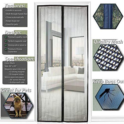 XXYY Insektenschutznetz Fliegenschutz-Gitter Mückenschutz Fliegennetz, Der Magnetvorhang ist Ideal für die Balkontür, Kellertür Und Terrassentür,105x230cm(41x91inch)