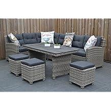 Muebles de Jardín para Dich Granada Lounge Juego Natural Grey con comedor