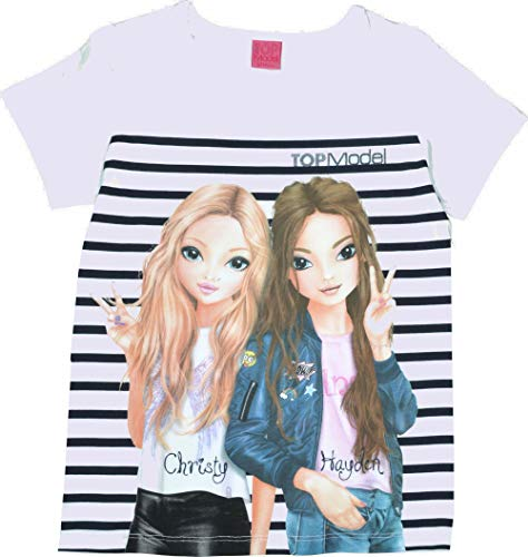Top Model Mädchen T-Shirt Kurzarm Christy & Hayden 85054 Weiß (164)