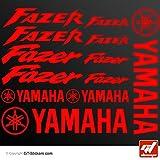Stickers Yamaha Fazer–rojo–Tabla 16adhesivos, adhesivos, pegatinas, GT-DESIGN