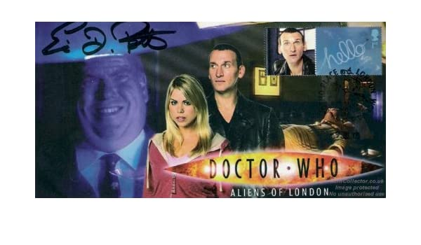Doctor Who Signed Stamp Cover Aliens of London ERIC POTTS